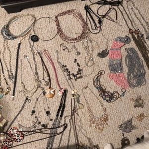 LARGE necklace lot